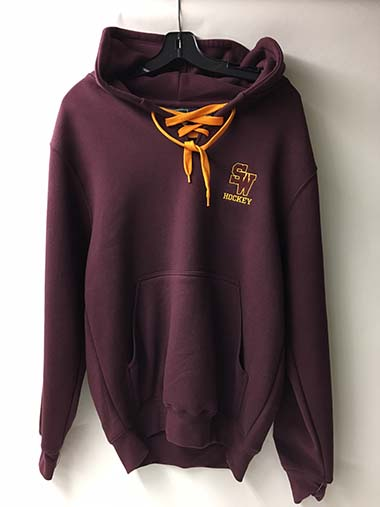VOS SOUTH WINDSOR YOUTH HOCKEY LACE NECK HOODY