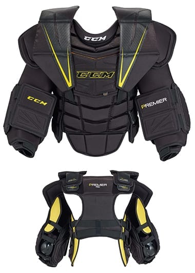 CCM PREMIER PRO SENIOR GOALIE CHEST & ARM 2016 MODEL