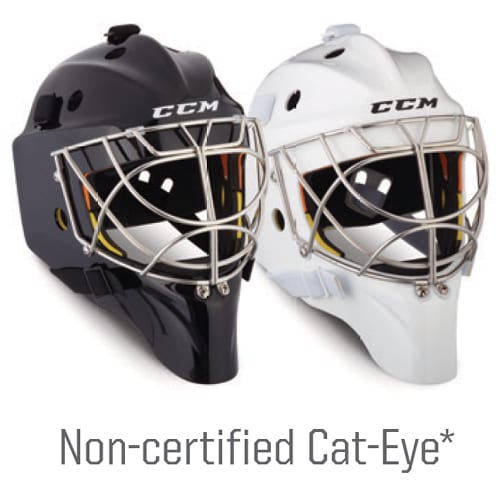 CCM Axis 1.9 Non-Certified Cat-Eye Senior Goalie Helmet