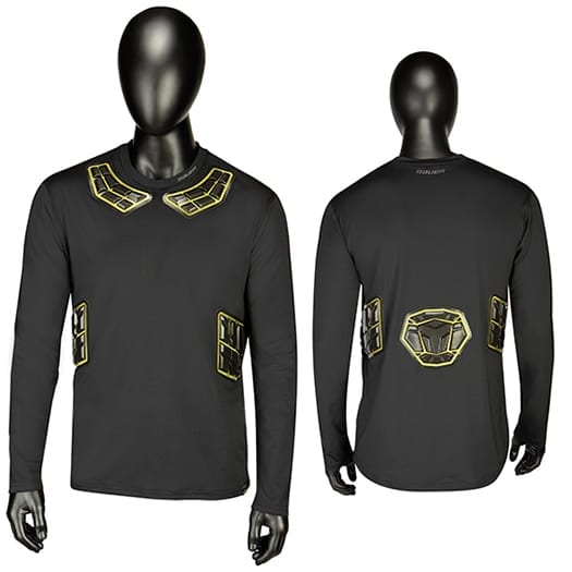 BAUER ELITE PADDED LS BASE LAYER TOP SENIOR