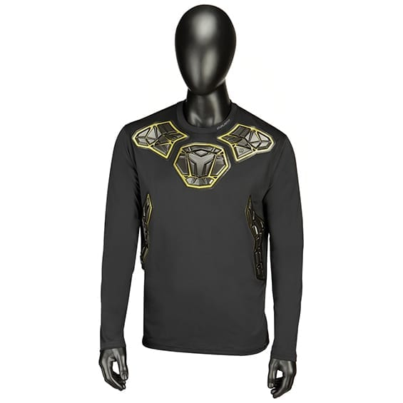 BAUER ELITE PADDED GOALIE LS BASE LAYER TOP SENIOR